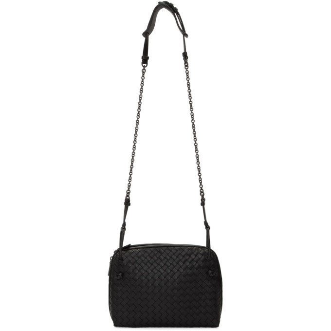 Bottega Veneta Black Intrecciato Nodini Bag