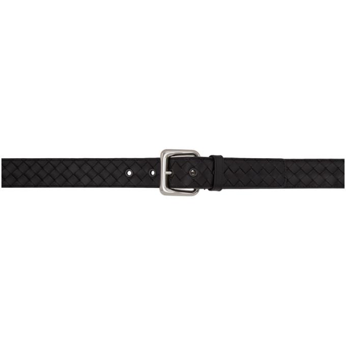 Image of Bottega Veneta Black Intrecciato Belt