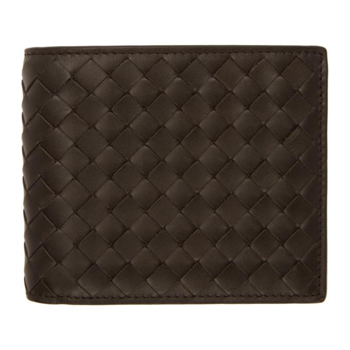 Bottega Veneta Woven Leather Bi-fold Wallet In Espresso