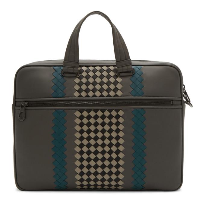 Bottega Veneta Grey Medium BV Club Briefcase