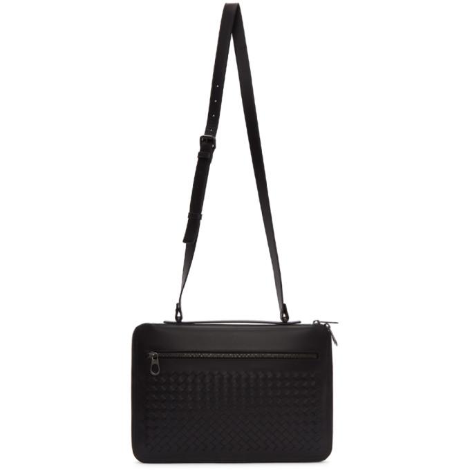 Bottega Veneta Black Intrecciato VN Messenger Bag