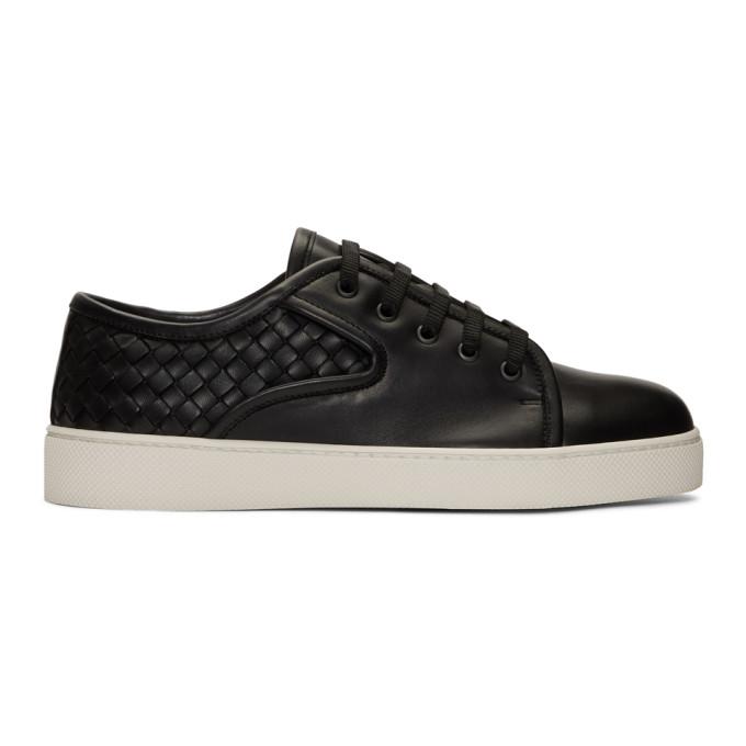 Bottega Veneta Black Intrecciato Dodger Sneakers