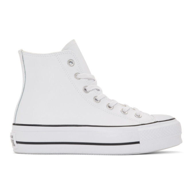Chuck Taylor All Star Lift Clean High-Top Sneakers in White