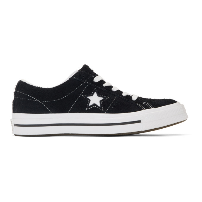 Image of Converse Black & White Vintage Suede One Star Sneakers