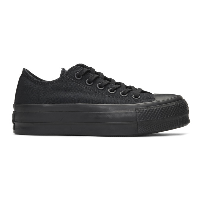 Image of Converse Black Chuck Taylor All Star Lift Clean Sneakers