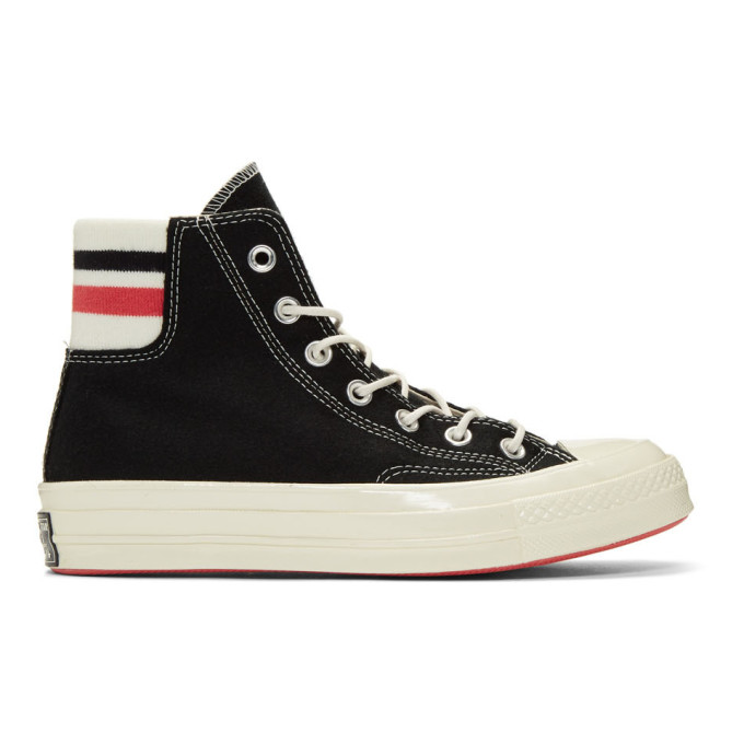 Image of Converse Black Wool Knit Back Chuck 70 High Sneakers