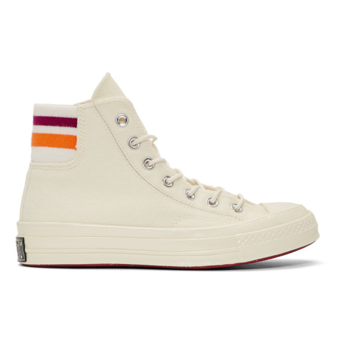 Image of Converse Off-White Knit Back Chuck 70 High Sneakers