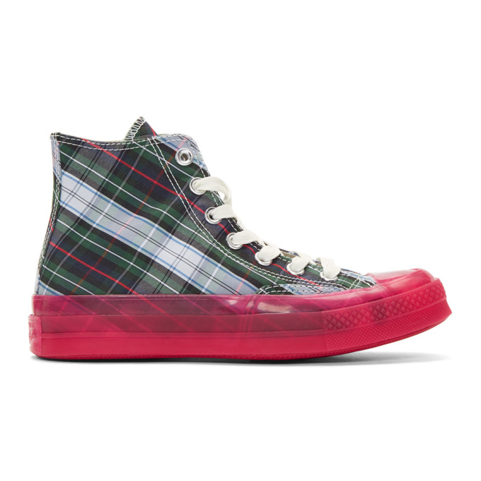 Image of Converse Multicolor Papyrus Translucent Midsole Chuck 70 Hi Sneakers