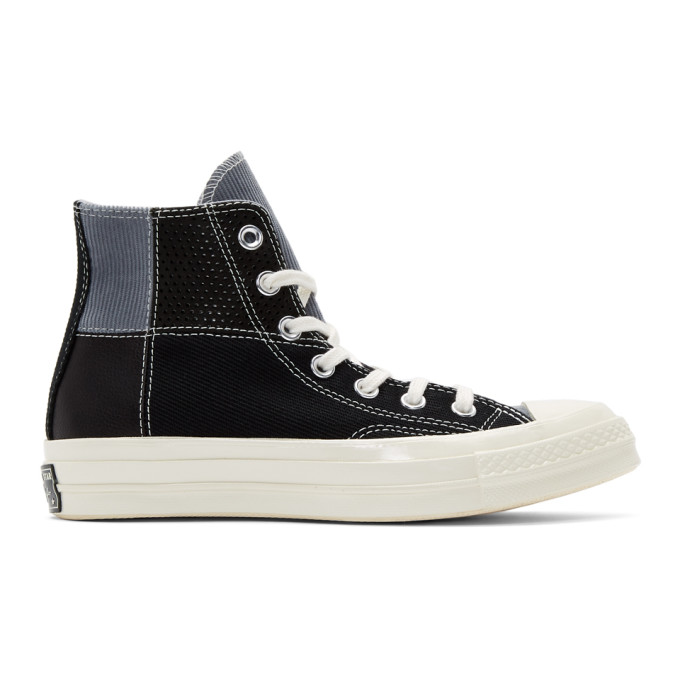 Image of Converse Black Patchwork Chuck 70 High Sneakers