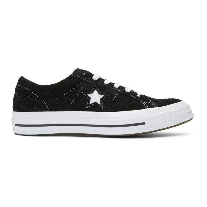 Image of Converse Black Suede One Star Sneakers