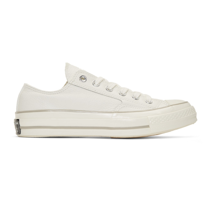 Converse Off-White Leather Chuck 70 Low Sneakers