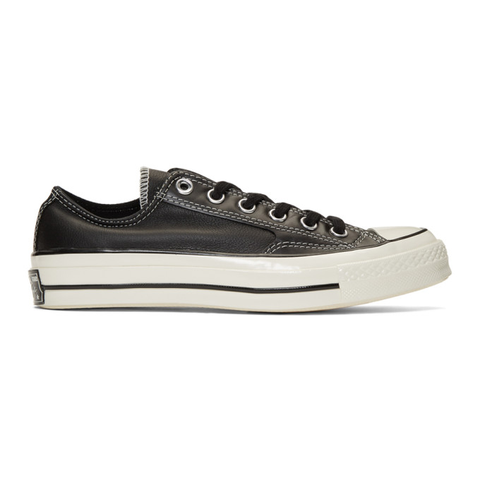 Converse Black Leather Chuck 70 Low Sneakers