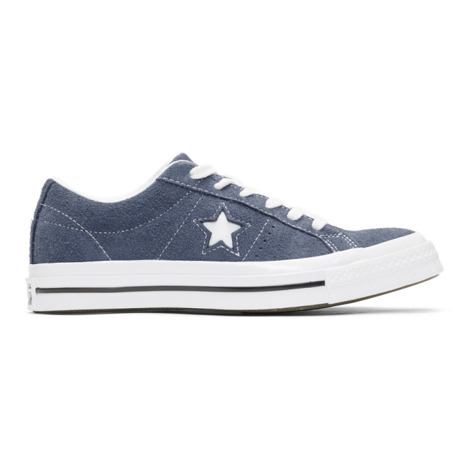 Image of Converse Navy Suede One Star Sneakers