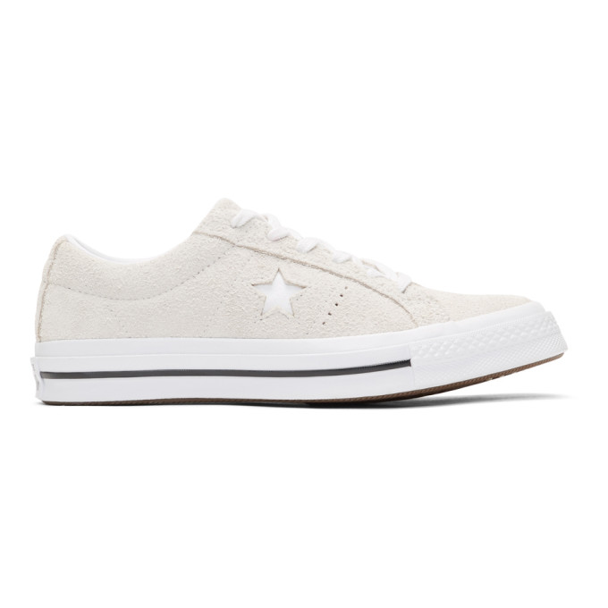 Image of Converse White Suede One Star Sneakers