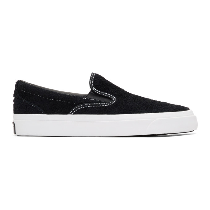 Image of Converse Black Suede One Star CC Slip-On Sneaker