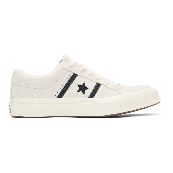 Image of Converse Off-White Suede One Star Academy Sneakers