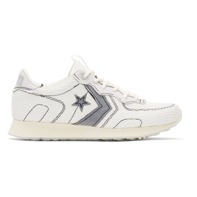 Converse White & Off-White Vince Staples Edition Thunderbolt Sneakers