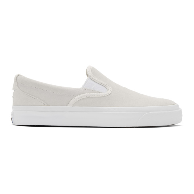 Image of Converse Off-White Suede One Star CC Slip-On Sneakers