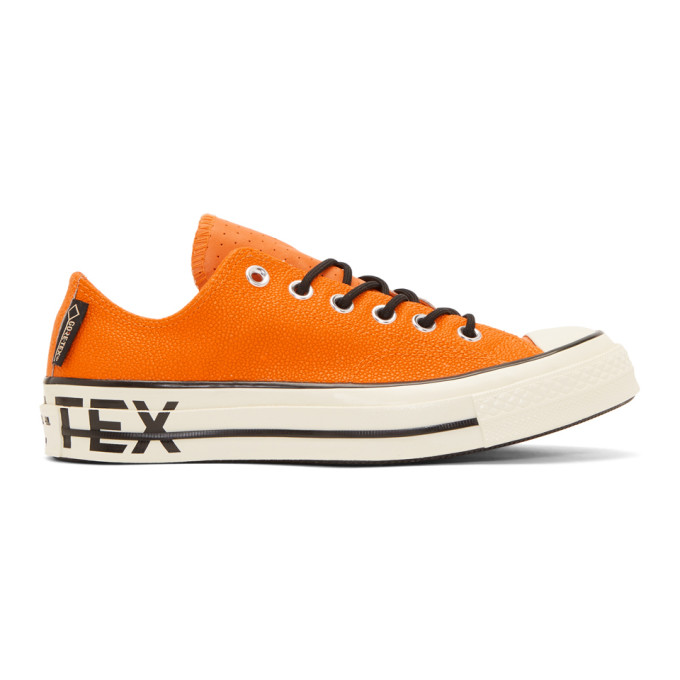 Image of Converse Orange Leather Chuck 70 Low Sneakers