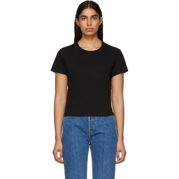 74641483c3f78 Re Done 1950S Boxy Cropped T-Shirt In Black