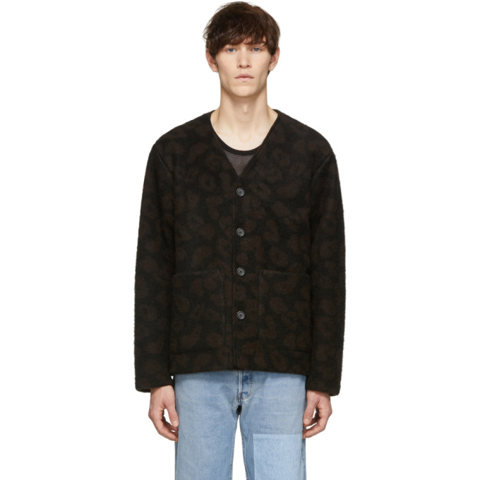 Image of Our Legacy Black Leopard Cardigan