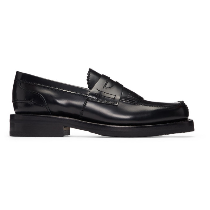 Image of Our Legacy Black Leather Loafers