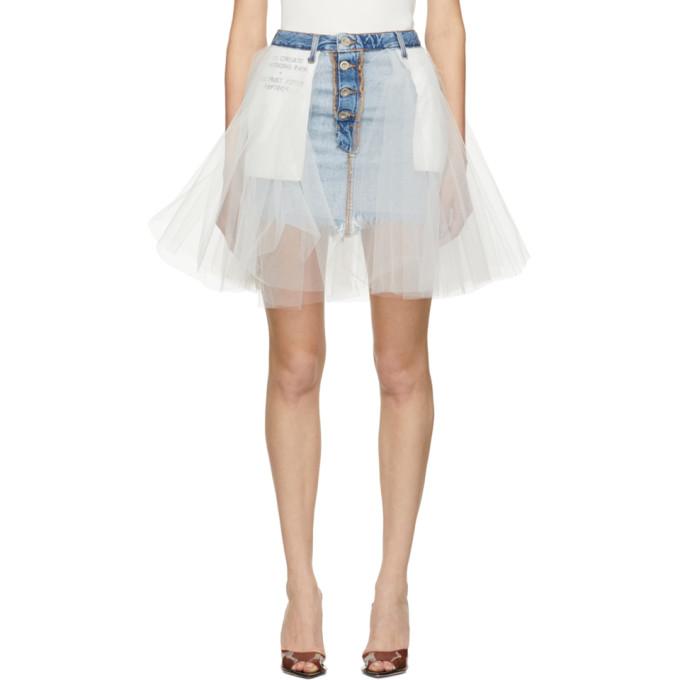 54c1441ddb Unravel Indigo Denim Tulle Miniskirt
