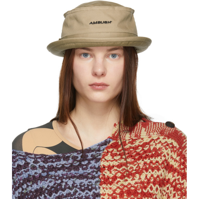 Image of Ambush Beige Waves Bucket Hat