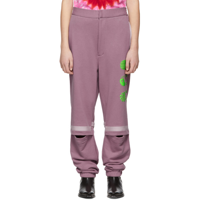 Ambush Pantalon de survetement rose Patchwork