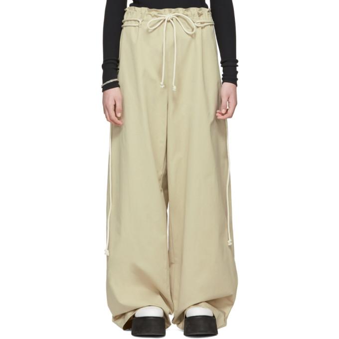 Image of Ambush Beige Drawstring Trousers