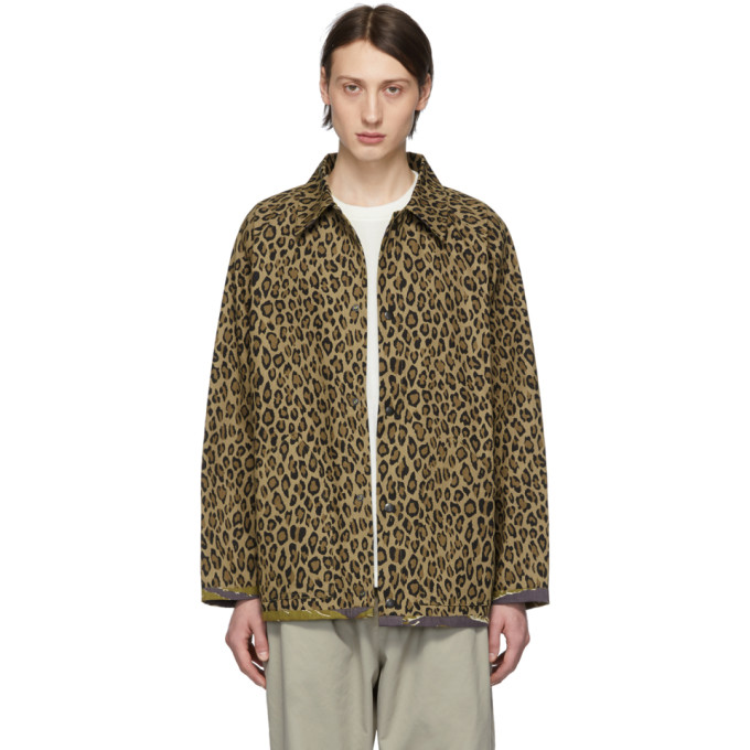 Needles Jackets NEEDLES REVERSIBLE BROWN LEOPARD AND CAMO FIELD JACKET