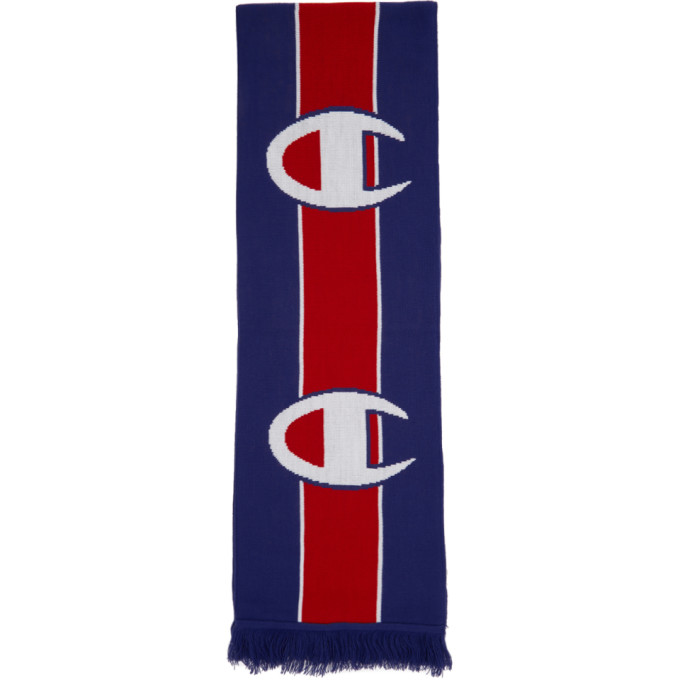 Image of Champion Reverse Weave Blue & Red Logo Scarf