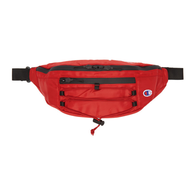 Image of Champion Reverse Weave Red Lace-Up Logo Belt Bag
