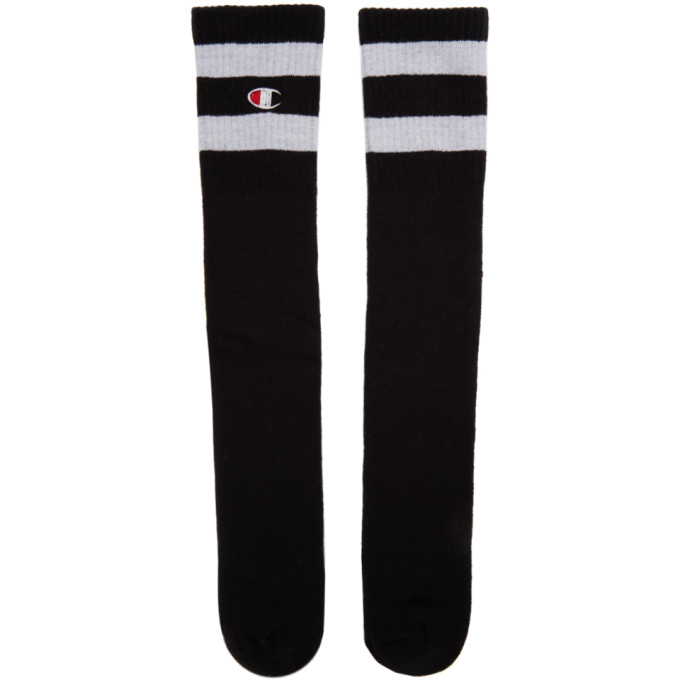 Champion Reverse Weave Black Tube Sports Socks 191822F07600201