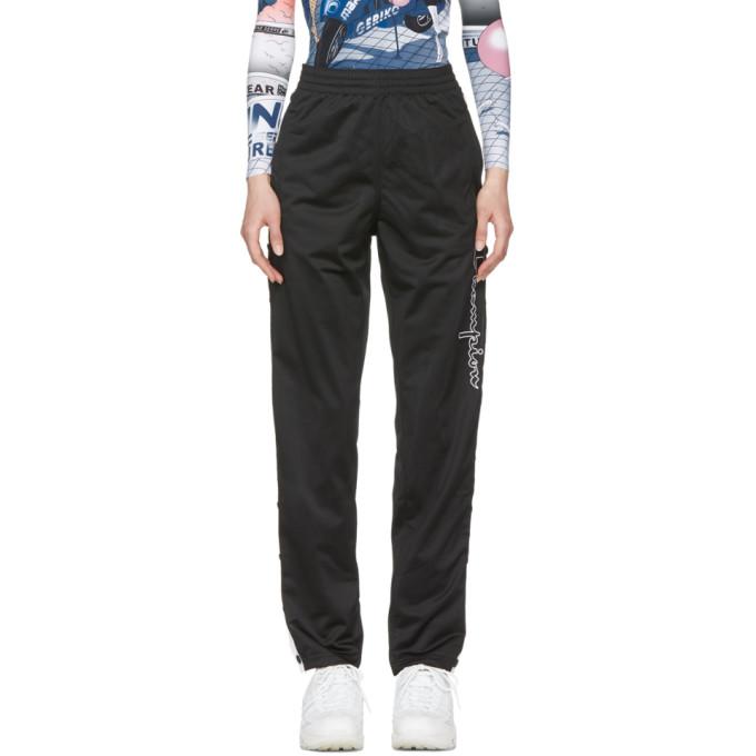 Image of Champion Reverse Weave Black Button Stripe Lounge Pants