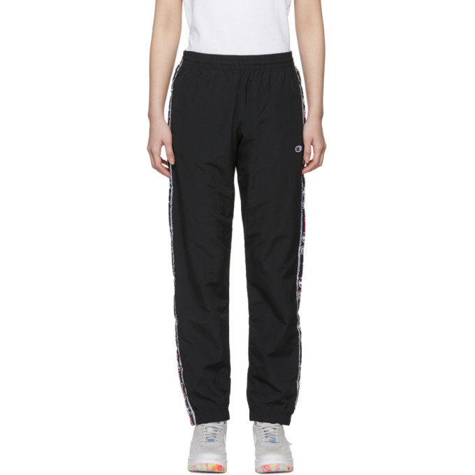 Image of Champion Reverse Weave Black Stripe Track Pants
