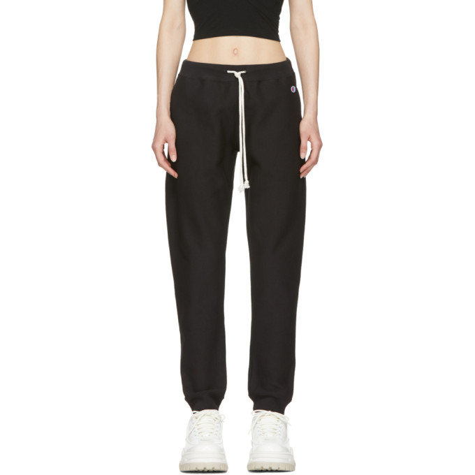 Image of Champion Reverse Weave Black Classic Lounge Pants