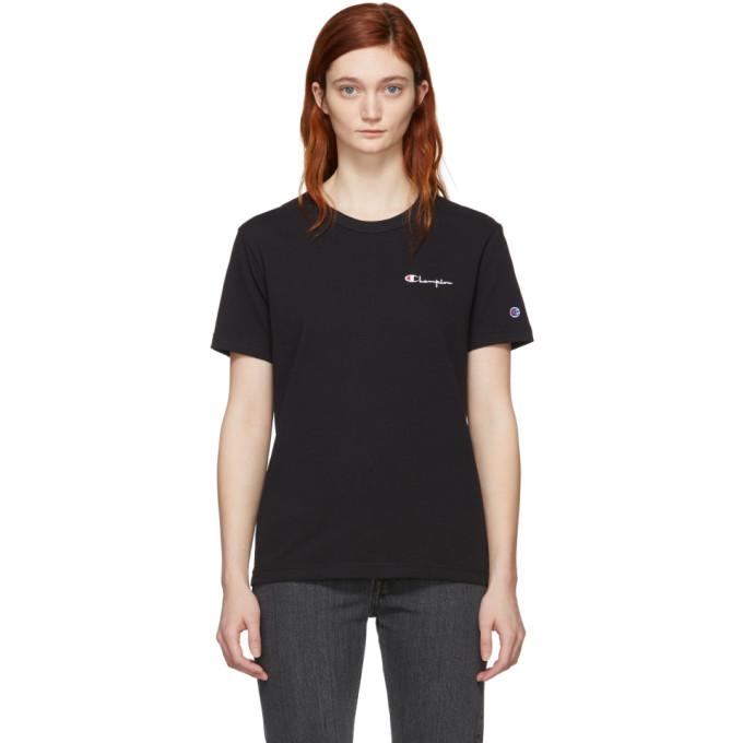 Image of Champion Reverse Weave Black Crewneck T-Shirt