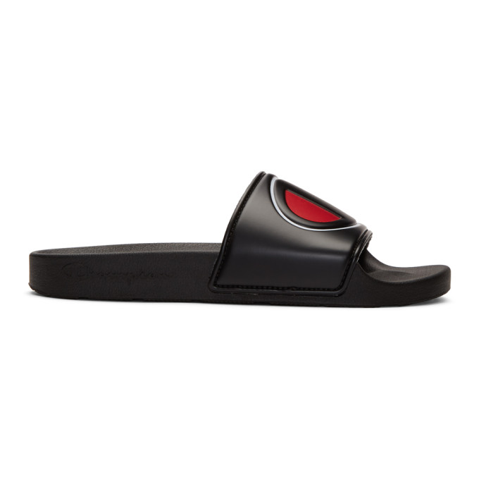 Image of Champion Reverse Weave Black IPO Slides