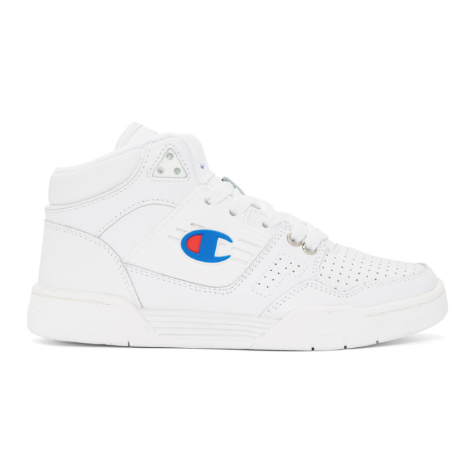 Image of Champion Reverse Weave White 3 On 3 Sneakers