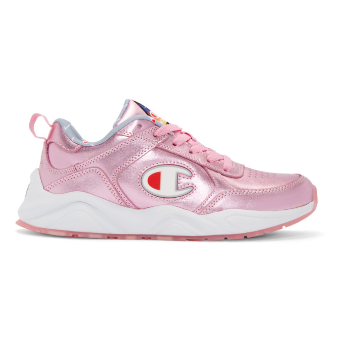 93 Eighteen Metallic Sneaker in Pink