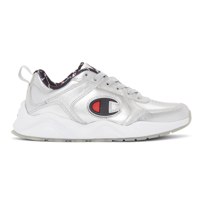 Image of Champion Reverse Weave Silver Metallic 93Eighteen Sneakers