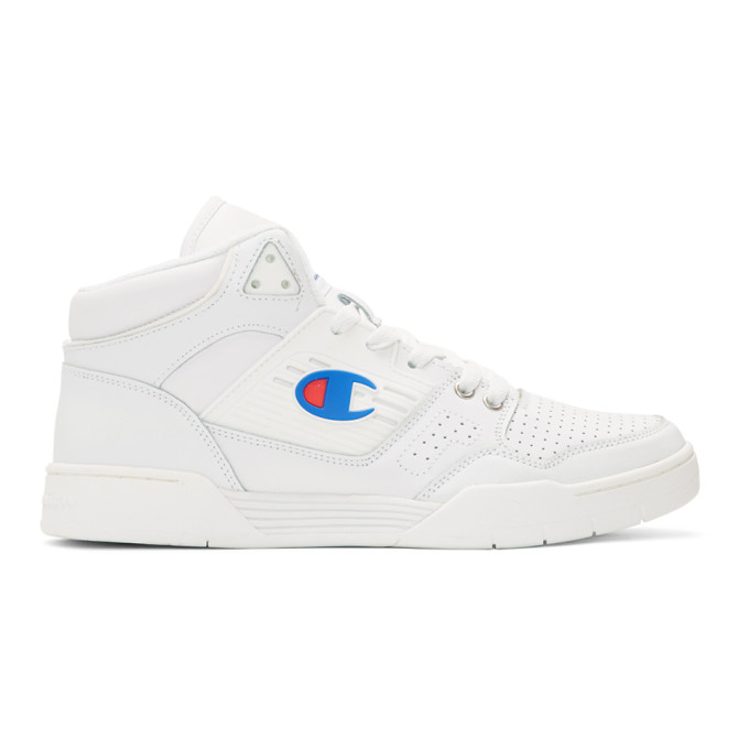 Image of Champion Reverse Weave White 3 on 3 SP High-Top Sneakers
