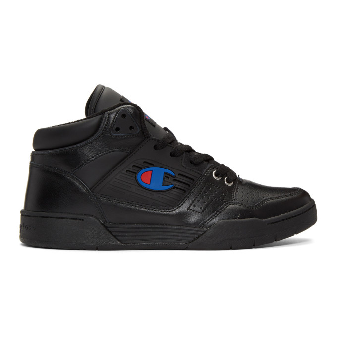 Image of Champion Reverse Weave Black 3 On 3 Sneakers