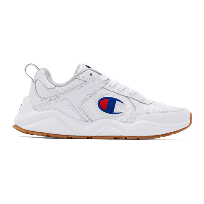 Image of Champion Reverse Weave White 93Eighteen Classic Sneakers
