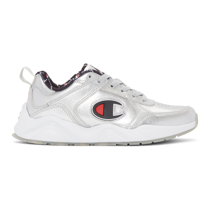 Image of Champion Reverse Weave Silver 93Eighteen Metallic Sneakers