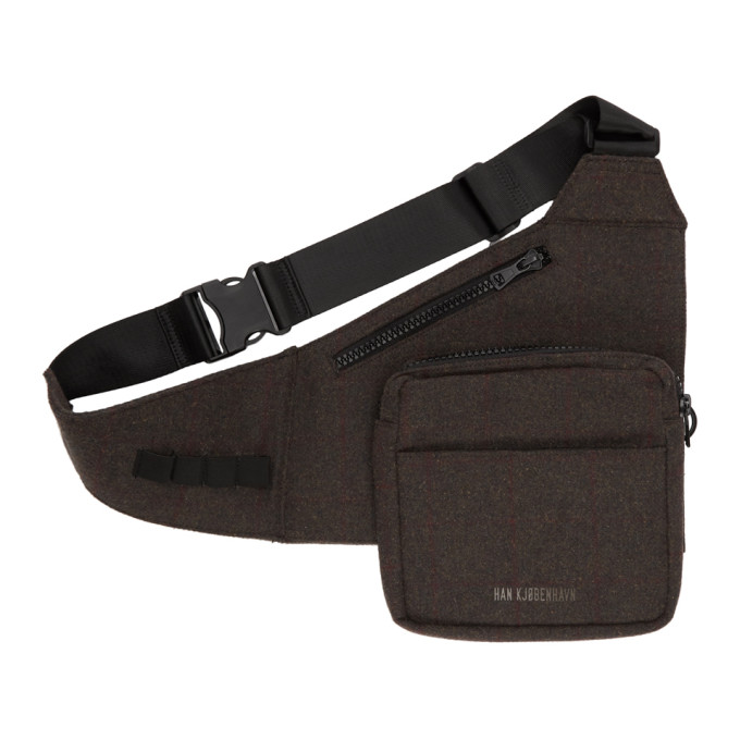 Han Kjobenhavn Brown Tweed Triangle Bag