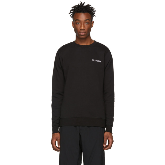 Han Kjobenhavn T-shirts HAN KJOBENHAVN BLACK CASUAL LOGO SWEATSHIRT