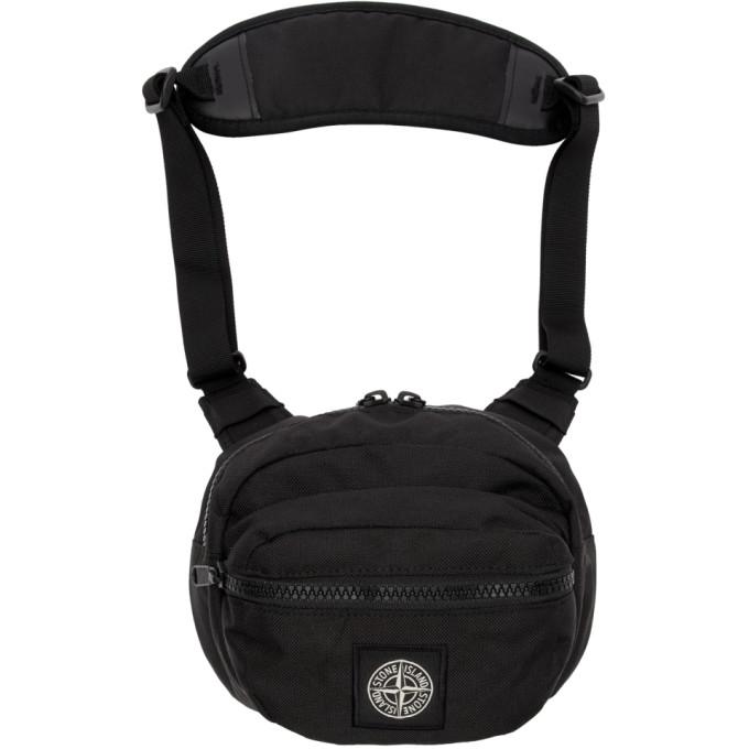 Stone Island Black Logo Bum Bag