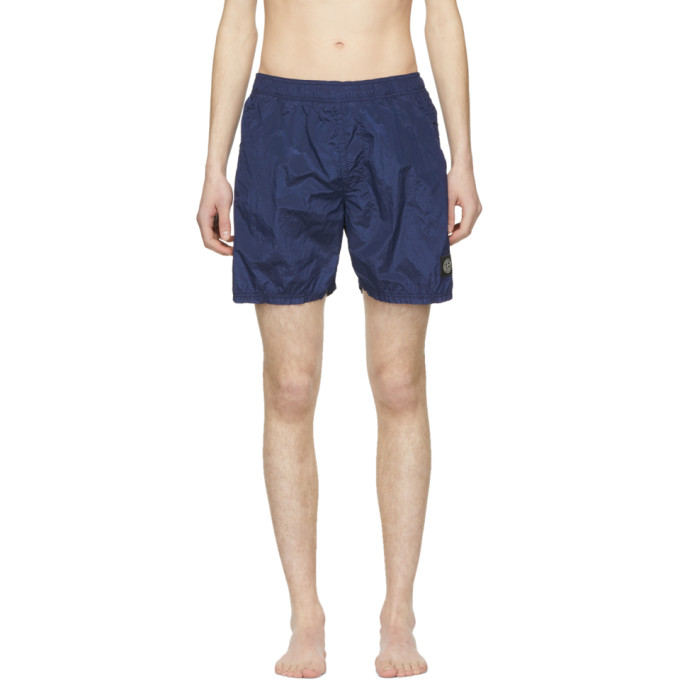 74e20d9e74 Stone Island Blue Nylon Swim Shorts 191828M19300606
